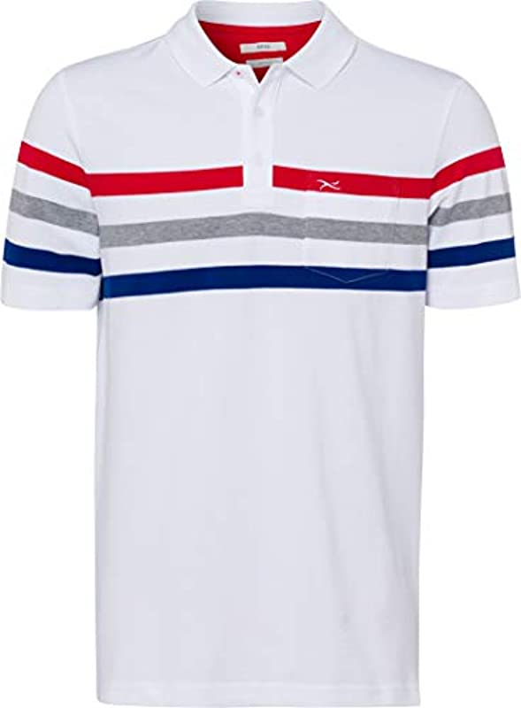 BRAX męska koszulka polo patrick: koszulka polo z krÓtkim rękawem w jakości Hi-Flex z wysokiej jakości bawełny Pima z elastanem, najdelikatniejszy towar piqué, nr art. 28-4507: Odzież