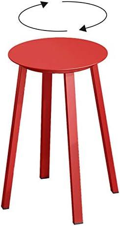 Tabouret De Bar Rotatif Rouge Armoire Moderne Tabouret De Comptoir en Métal Cuisine Intérieure Salle à Manger Chaise Intérieure Et Extérieure avec Tabouret De Pieds