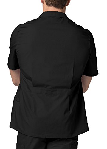 Adar Universal Men's Zippered Short Sleeve Jacket (Available in 7 colors) - 607 - Black - 2X by ADAR UNIFORMS (Image #2)
