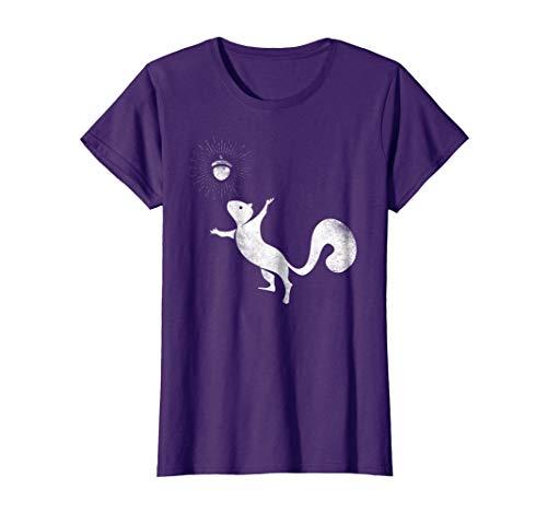 Womens Squirrel Whisperer T-Shirt Spirit Animal Funny Love Squirrel Large Purple