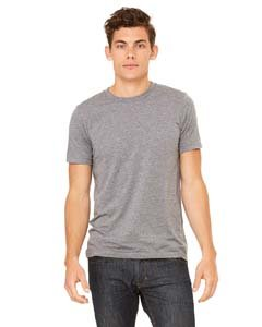 - Canvas 3413 Unisex Triblend Short-Sleeve T-Shirt, Grey, Large