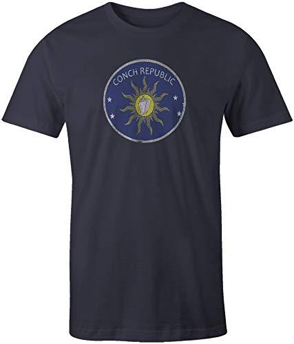 Arwick Store Key West Conch Republic Flag Short Sleeve T-Shirt Vintage ()