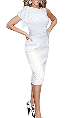 REPHYLLIS Women Elegant Sleeveless Working Cocktail Casual Party Pencil Dress
