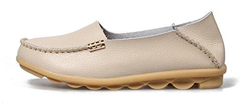 Mocassins Dames Beige Beginning Auspicious Pour En Cuir Chaussures E1YWBqWf