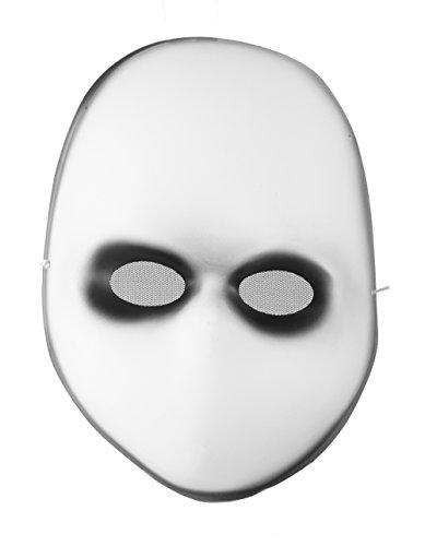 Blank Black Eyes Doll Mask Costume (Halloween Baby Doll Mask)