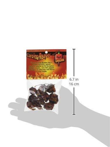 Dried Carolina Reaper Pepper Whole Pods, 1/4 oz.