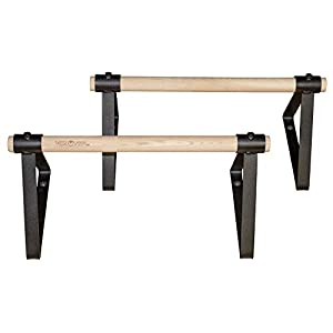 """Well-Being-Matters 3167MrJbqEL._SS300_ Vita Vibe Wood Parallettes Set 18"""" - 24"""" Long"""