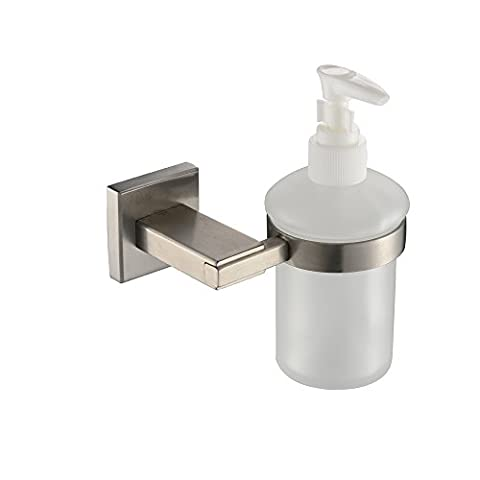 KES Bathroom Lavatory Soap Lotion Dispenser Pump Wall Mount with SUS304 Stainless Steel Post, Brushed Finish, (Bathroom Shower Soap Dispenser)