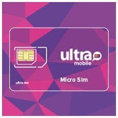 Ultra Mobile Micro/Regular SIM card for Unlocked GSM Phones