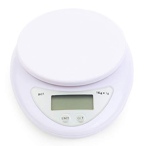 Küchenwaage Digitalwaage Professionelle Waage Electronische Waage Multifunktionswaage, LCD Display 5kg/1g