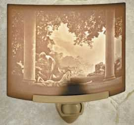 Daybreak By Maxfield Parrish Porcelain Lithophane Night