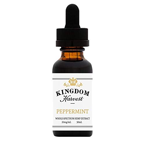Kingdom Harvest Extra Strength All Natural Peppermint Hemp Extract Oil 30 mL - Pain and Anxiety Relief. Sleep Support. Inflammation. Reduce Stress