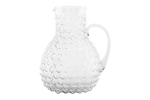 Creative Co-op Large Clear Hobnail Glass Pitcher, 80 Ounce,