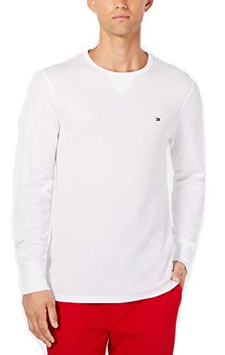 Tommy Hilfiger Men's Long-Sleeve Thermal Shirt Large (Large, White)