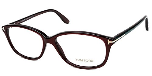 Tom Ford FT5316 Square Burgundy Optical 54 Clear Lens Eyeglasses TF5316 072 - Ford Tom Frames Clear