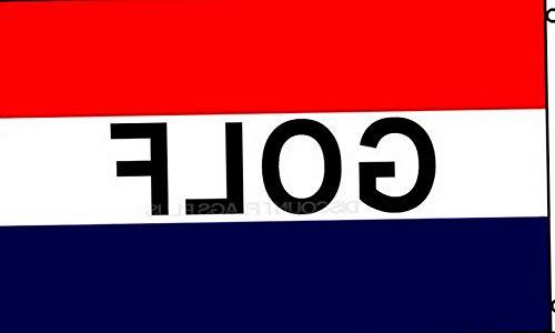 Hebel 3x5 Advertising Golf Red White Blue Flag 3x5 House Banner Brass Grommets | Model FLG - 1980