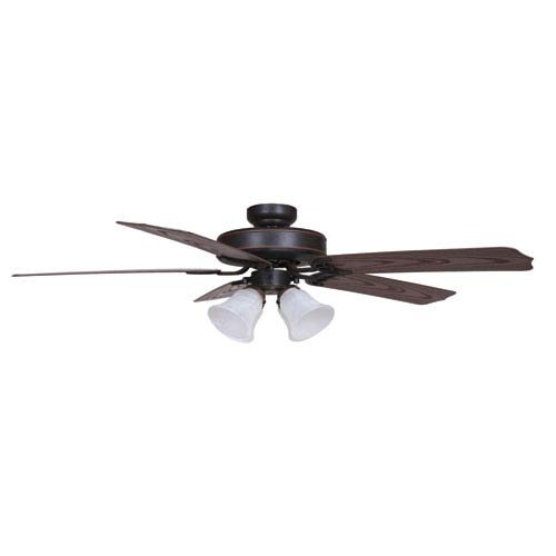 Yosemite Home Decor PATTERSON2-ORB-4 52-Inch Ceiling Fan in Oil rubbed Bronze Finish with 4 Light outdoor, Oil Rubbed Bronze by Yosemite Home Decor