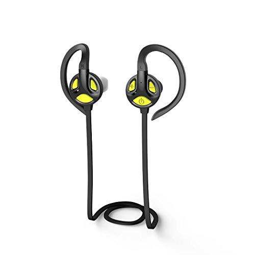 NSST Bluetooth Wireless Headset, Stereo Ear-Hook Headset Built-in Mic,one-Two,Wireless Waterproof Earplugs 4.1 Bluetooth Earphone for Sports Running,A