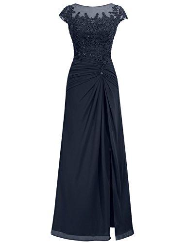 Vestido Fiesta Azul Jaeden Novia Partido De Largo Mujer Vestidos Gasa Marino Noche q6p1x15vtw