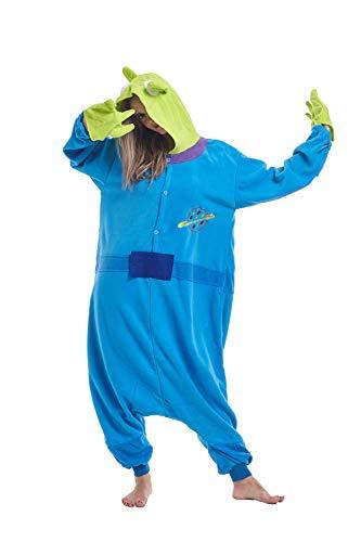 (Zinuods Unisex Adult Pajamas Aliens Onesies Halloween Cosplay Animal Costumes)