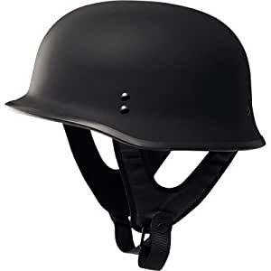 Fly Racing 9MM Half Adult Harley Touring Motorcycle Helmet - Flat Black / 2X-Large