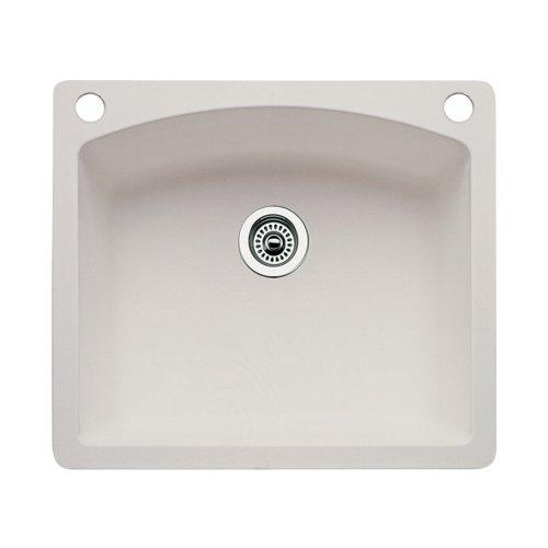 (Blanco 440212-2 Diamond 2-Hole Single-Basin Drop-In or Undermount Granite Kitchen Sink,)