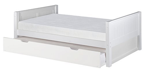 Camaflexi Panel Style Solid Wood Platform Bed with Trundle