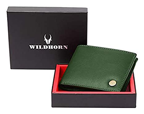 WILDHORN Leather Men\'s Wallet  654695_Green