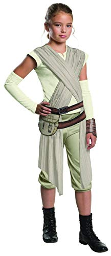 Star Wars: The Force Awakens Child's Deluxe Rey Costume, -
