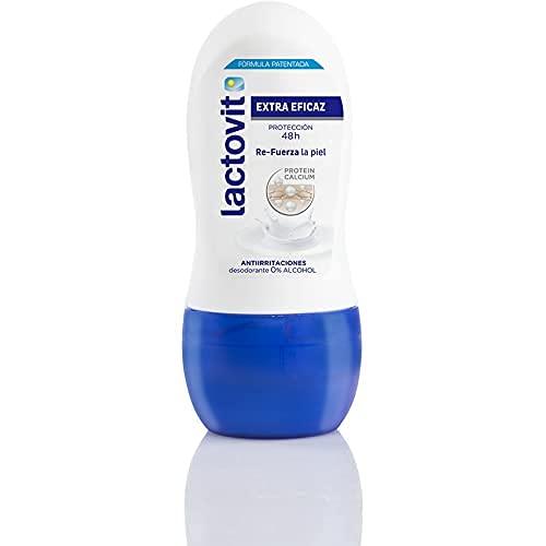 Lactovit - Desodorante Roll On Extra Eficaz Protección Inteligente, Anti-Irritaciones y 48H de Eficacia - 50 ml