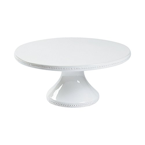 Fun Express - White Ceramic Cake Pedestal 12in for Wedding - Home Decor - Entertaining - Misc Entertaining - Wedding - 1 Piece