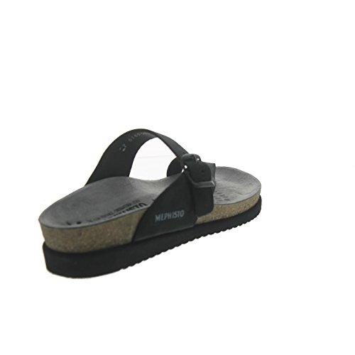 Mephisto HELEN ETNA 7103 GREY P5046230 - Sandalias de cuero para mujer negro - negro