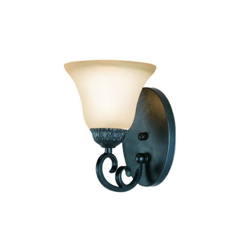 (Woodbridge Lighting 53055-TBK Jamestown 1-Light Bath Light, Textured Black)