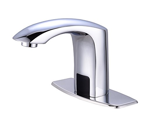 Gangang Lavatory Bathroom Touch Free Automatic Sensor Tap Sink Hot Cold Mixer Faucet Chrome Brass (Lavatory Star)