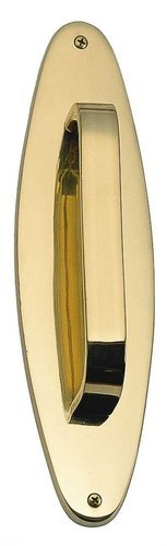 Oval Traditional Pull Handle/Plate Finish: Polished - Accents Pull Brass Traditional