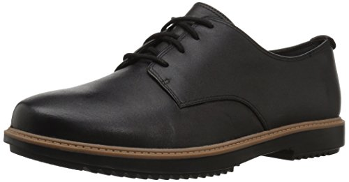 CLARKS Women's Raisie Bloom Oxford, Black Leather, 8 M US by CLARKS