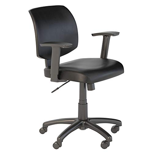 Bush Business Furniture Petite Leather Office Chair in Black