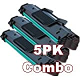 5-Pack Samsung SCX-4521D3 Compatible Toner Cartridge Black for Samsung SCX-4321/ SCX-4521 Printers, Office Central