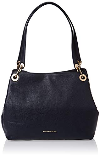 Michael Kors black leather tote | MICHAEL Michael Kors Raven Large Shoulder Tote Admiral One Size