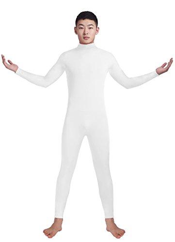 Ensnovo Adult Lycra Spandex Turtleneck Long Sleeve One Piece Unitard Bodysuit Dancewear