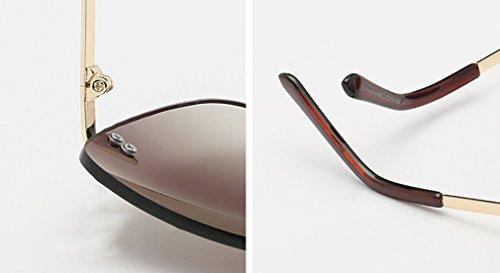 A de Light Street Retro Sol C MOQJ Frameless Visor Trim Sol de Gafas Lady Gafas waqOpFOR