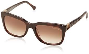 Roberto Cavalli Women's RC799S5552F Wayfarer Sunglasses,Dark Havana,55 mm