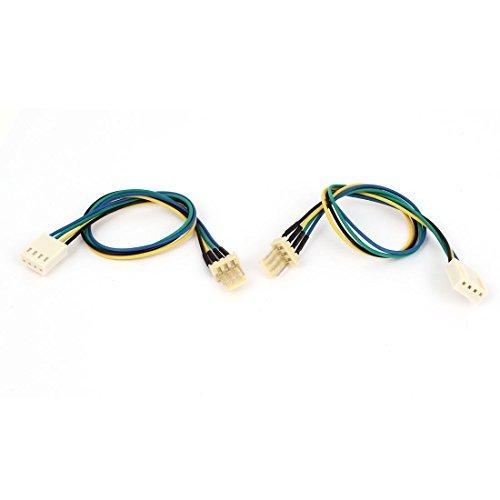 EbuyChX 2PCS PC Computer 4 Wires Lalaki sa Babae Pagpapalamig 4P Fan Extension Cable