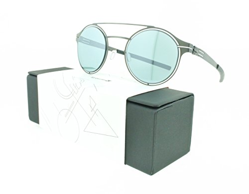 Brand New Authentic ic! berlin Sunglasses Circularity Metal Frames (Graphite, Teal - Frame Berlin Ic