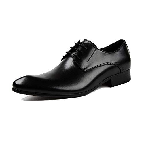 Scarpe da Uomo in Pelle da Lavoro Scarpe Inglesi Scarpe Stringate Indicate da Indossare Traspirabili Confortevole Black