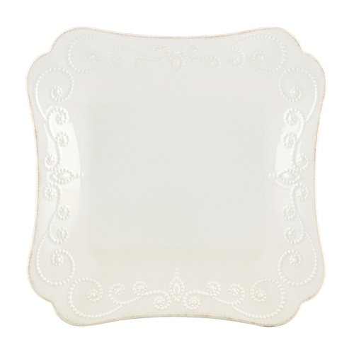 (Lenox French Perle Square Dinner Plate, White)