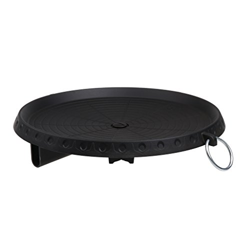 Homyl Outdoor Camping BBQ Grill Stand Broil Round Roasting Pan Cooking Stove Griddle Tray ()