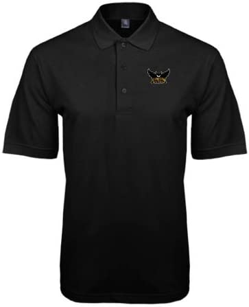 CollegeFanGear Kennesaw Black Easycare Pique Polo Official Kennesaw State Owls Logo