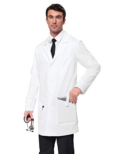 KOI Classics 433 Men's Jack Lab Coat White -