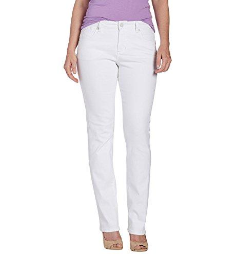 Jag Jeans Women's Petite Portia Straight Jean, White, - Hottest Women White